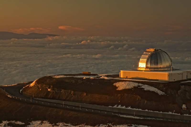 NASA Telescope at Dusk