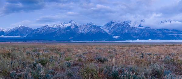 Sunrise Panorama - Grand Tetons National Park, WY