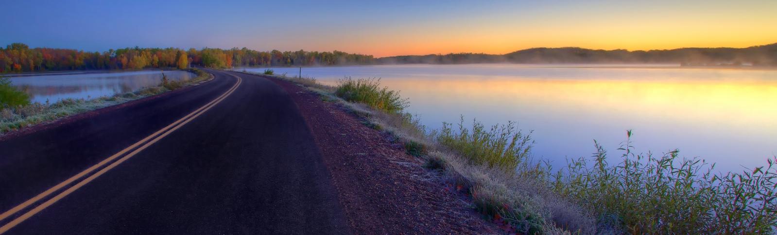 Foggy Dawn Lake