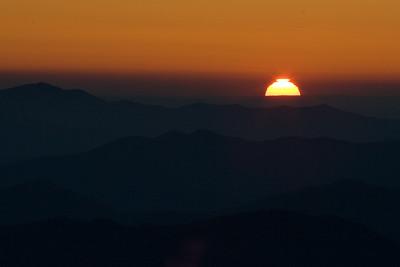 Sunset at Clingmans Dome - Great Smokies National Park, NC
