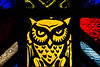 Stained glass owl avatar