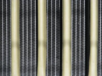Rad  The radiator of an ancient Caterpillar bulldozer.