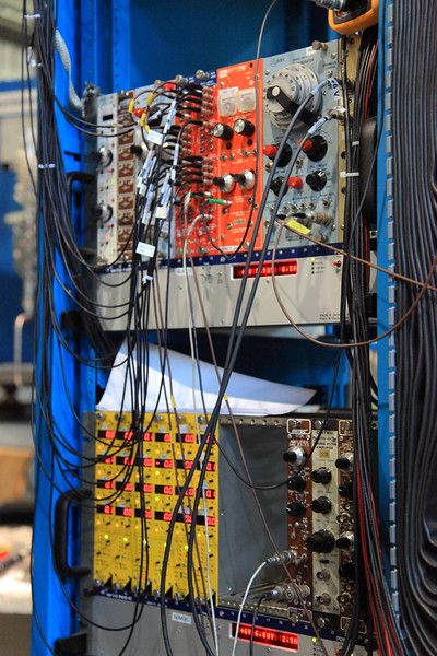 Cables, knobs and blinkenlights at TRIUMF.