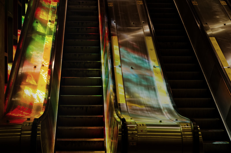 Stained Glass, Steel & Stairs