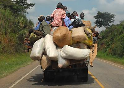 Taking goods to market, rural Uganda.