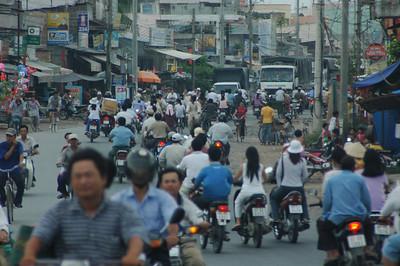 Chau Doc city, Vietnam.