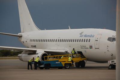 Air Namibia airplane, Windhoek, Namibia airport.