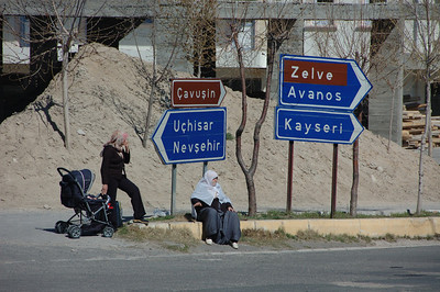 Bus stop, Cappadocia, Turkey.