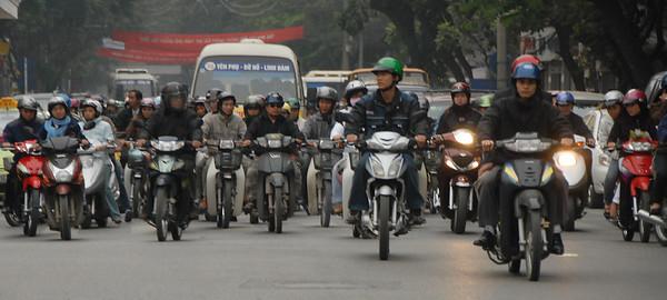 Traffic, Hanoi, Vietnam.