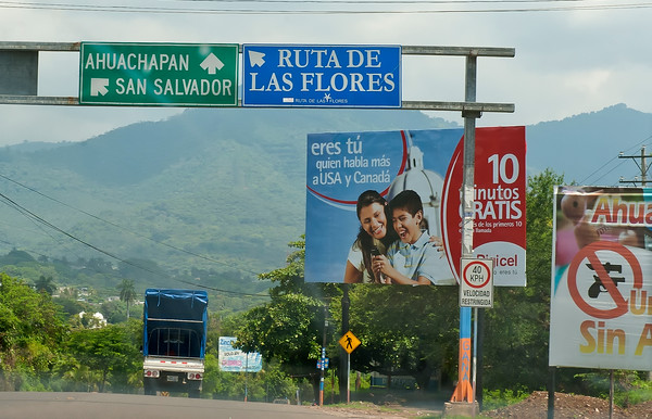 On the road, El Salvador.