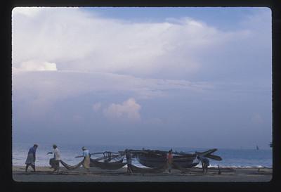 Fishing crew, Negombo beach, Sri Lanka.