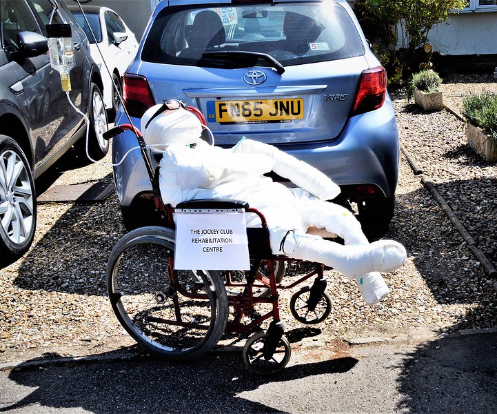 NHS WAITING IN CAR PARK by TONY HODGKINS