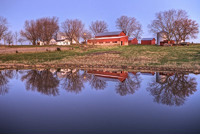Grandpa's Farm Reflected