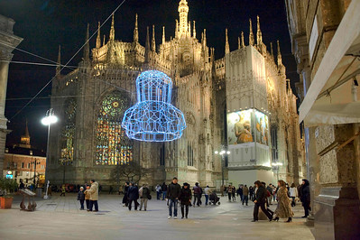 Milan, Italy at Christmastime HDR.