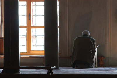 Worship, Blue Mosque, Istanbul, Turkey.