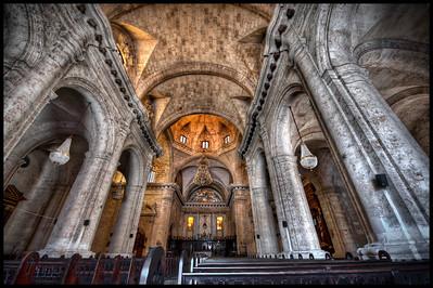 Interior of the Catedral de la Virgen María de la Concepción Inmaculada de La Habana, Havana, Cuba - HDR