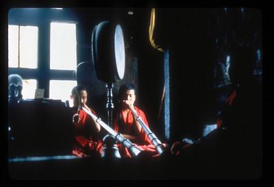 Ceremony in the watchtower of the Tongsa (or Trongsa) Dzong, Tongsa (or Trongsa), Bhutan.