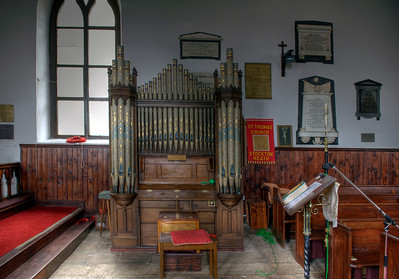 Pipe organ at St. James Church, the oldest Anglican church in the southern hemisphere, St. Helena Island - HDR.