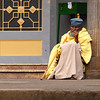 Worshipper at Trinity Ethiopian Orthodox church, Addis Ababa, Ethiopia.