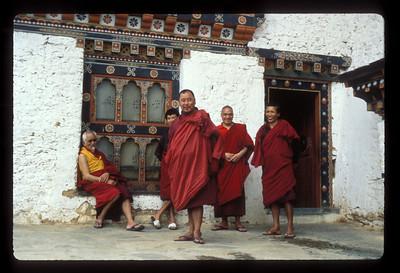 Monks, Thimpu, Bhutan.