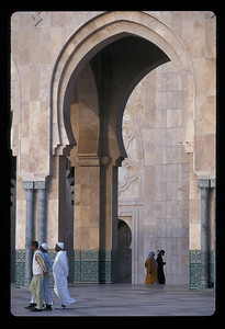 Detail of Hassan II mosque, Casablanca, Morocco.
