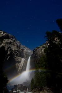 Moonbow at Lower Yosemite Falls 2009