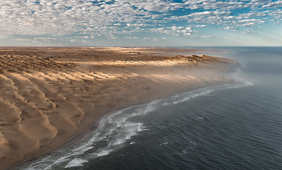 Flying Over the Famous Skeleton Coast