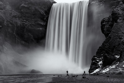 Walking by the Skogafoss