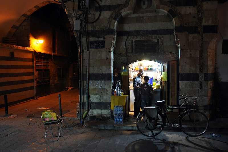 Late night shopping in the Damascus souk, Syria