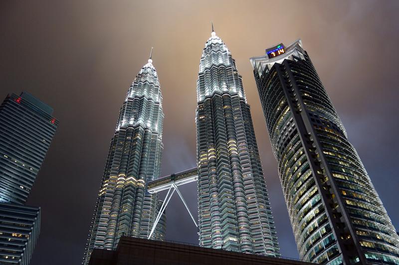 Petronas Towers under threatening skies, Kuala Lumpur, Malaysia