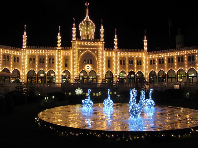 Winter fairy tale at the Tivoli Gardens in Copenhagen, Denmark
