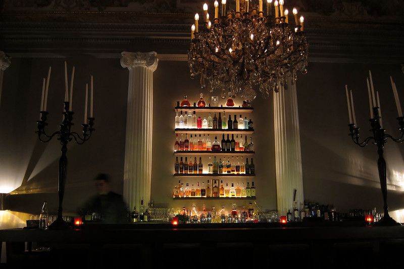 Upmarket hotel bar in Paris, France