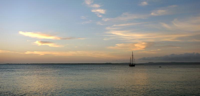 Twilight over the west coast of Bonaire