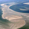 Giant sand banks and sand waves in the Wadden Sea, The Netherlands