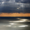 Approaching rain over the Ligurian Sea, Italy