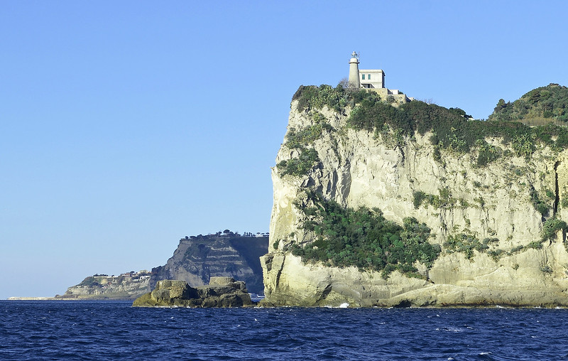 Faro di Capo Miseno in the Bay of Naples, Italy