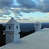 Rooftop view over the Bay of Naples from the north coast of Capri, Italy