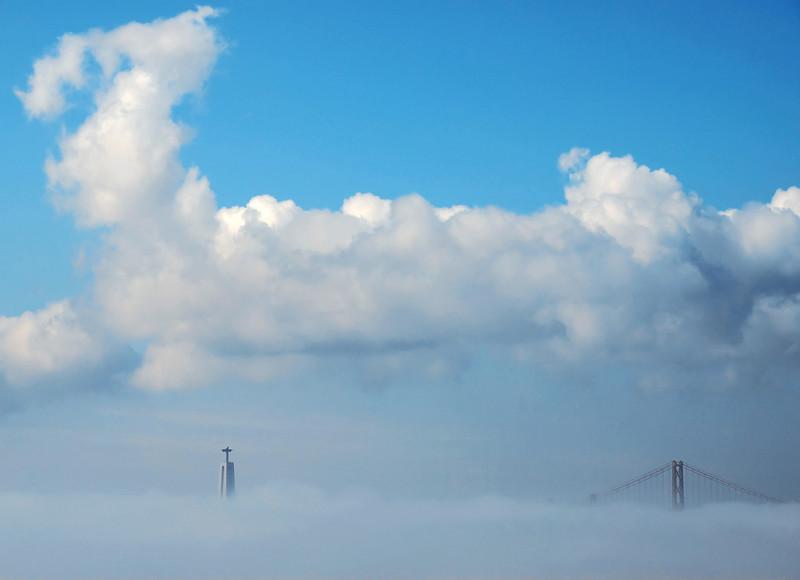 Blessed sea fog, Lisbon, Portugal