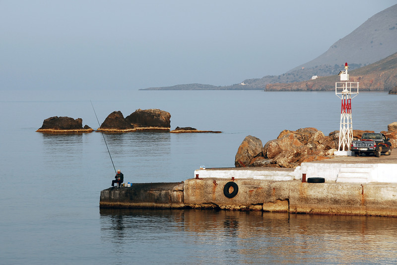 Small port of Chora Sfakion in southern Crete, Greece