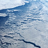 Sea ice breaking up in northeast Canada