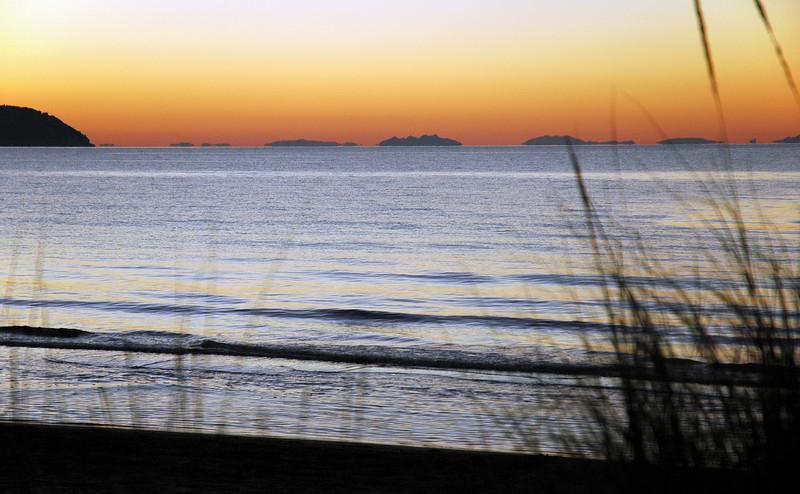 Dusk over the Tyrrhenian Sea near Porto Ercole, Italy