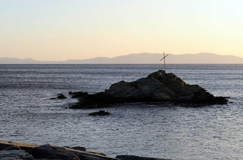Islet along the coast of Tinos island, Greece