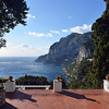 Blustery winter winds along the coast of Capri, Italy