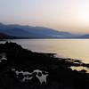 Coastal and mountain scenery in northwestern Crete, Greece