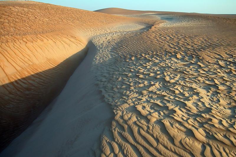 Sand dunes in Wahiba desert, Oman