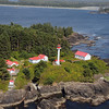 Lennard Island lighthouse on the west coast of Vancouver Island, Canada