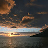 End of the day over Salina island, italy