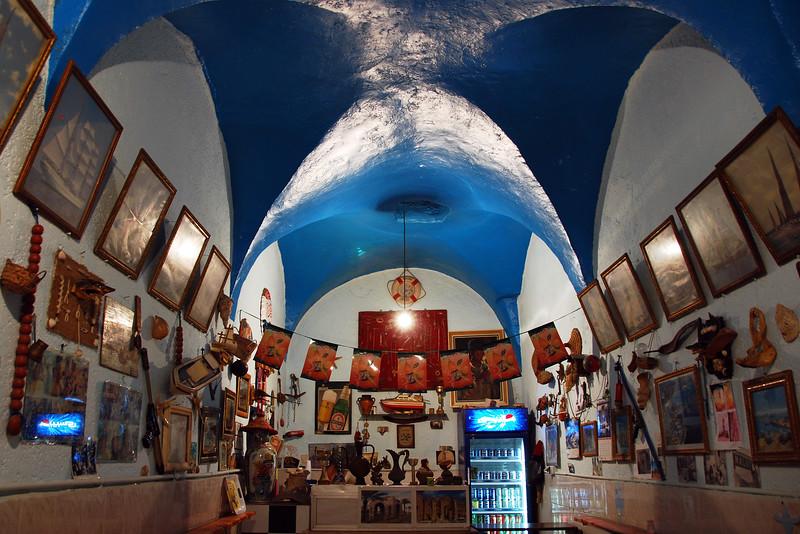Maritime themed cafe in old Tripoli, Libya