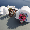 Villa roof in Oia on Santorini, Greece