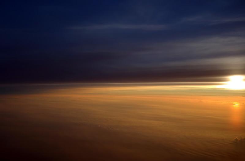 Sunrise over the North Sea coast, The Netherlands